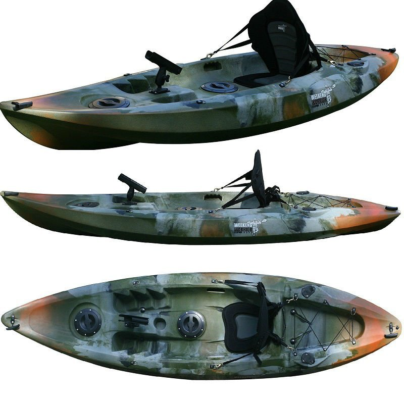 Fishing kayak snapper camo weekend warrior outdoors for Best stand up fishing kayak