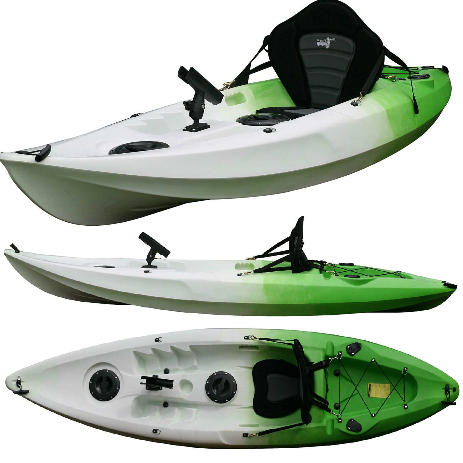 Single fishing kayak snapper green weekend warrior for Sit on vs sit in kayak for fishing